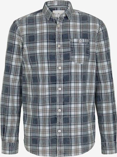 TOM TAILOR Hemd in rauchblau / braun / weiß, Produktansicht