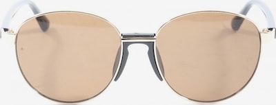 Pier One ovale Sonnenbrille in One Size in braun / gold / schwarz, Produktansicht