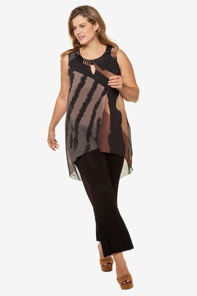 Ulla Popken Jumpsuit in de kleur Bruin / Zwart, Modelweergave