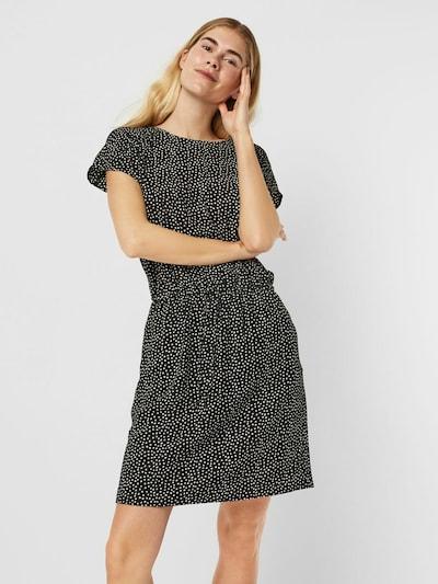 VERO MODA Kleid in schwarz / weiß, Modelansicht