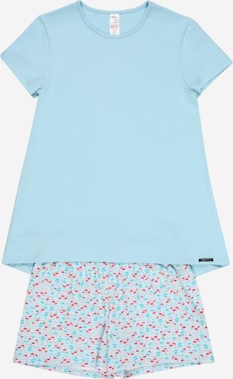 Skiny Pyjama in rauchblau / aqua / pink, Produktansicht