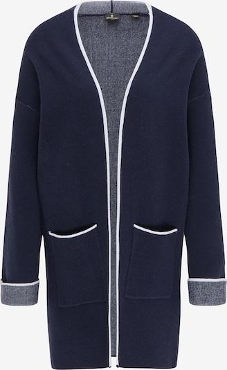 DreiMaster Klassik Gebreide mantel in de kleur Marine / Wit, Productweergave