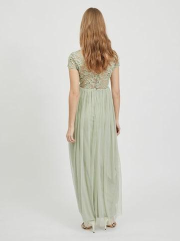 VILA Spitzenoberstoff Abendkleid in Grün