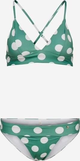 ONLY Bikini in de kleur Groen / Wit, Productweergave