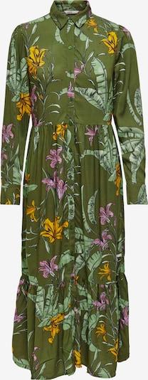 ONLY Kleid 'Palm' in gelb / pastellgrün / dunkelgrün / lila, Produktansicht