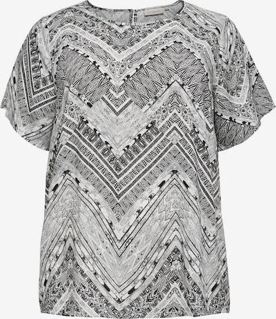 ONLY Carmakoma Shirt in de kleur Zwart / Wit, Productweergave