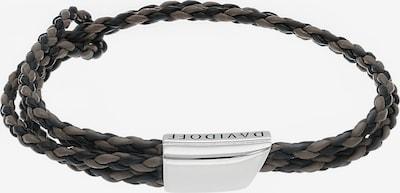 Davidoff Armband '20cm' in schwarz / silber, Produktansicht