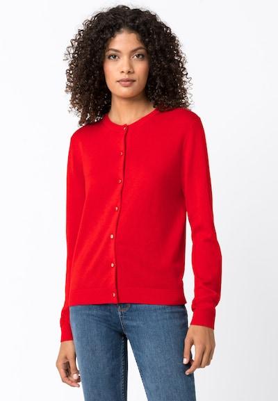 HALLHUBER Cardigan mit Metallknöpfen in rot, Modelansicht