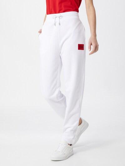 Pantaloni 'Dachibi' HUGO pe alb, Vizualizare model