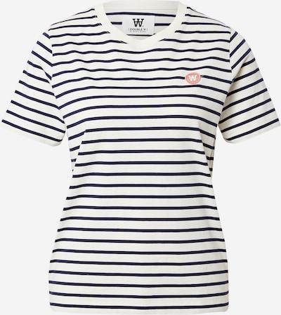 WOOD WOOD Тениска 'Mia' в нейви синьо / бледорозово / бяло, Преглед на продукта