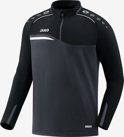 JAKO Sweatshirt in grau / schwarz: Frontalansicht