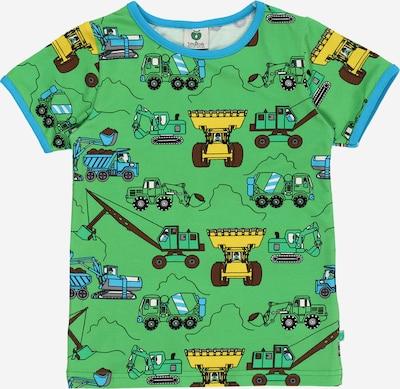 Småfolk Majica 'Machines' | kraljevo modra / rjava / rumena / limeta / črna barva, Prikaz izdelka