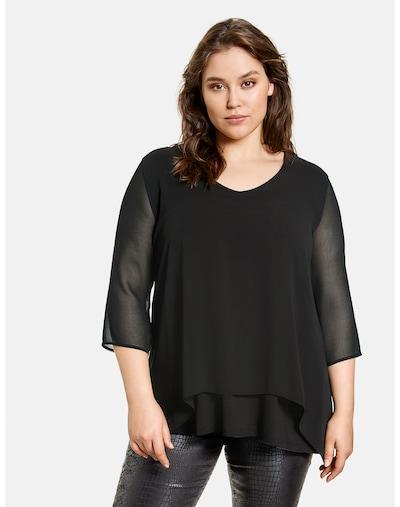 SAMOON Shirt in schwarz, Modelansicht