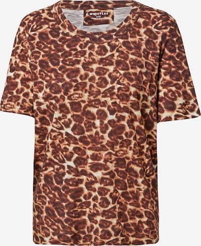 Tricou Whistles pe maro ruginiu / maro închis / alb, Vizualizare produs