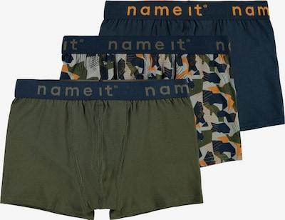 NAME IT Onderbroek in de kleur Donkerblauw / Grijs / Kaki / Sinaasappel, Productweergave