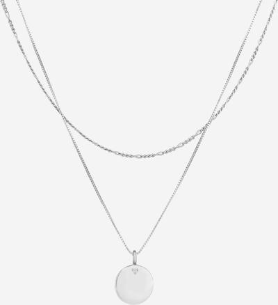 KUZZOI Halskette Geo, Layer in silber, Produktansicht
