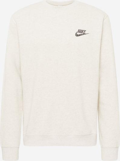 Nike Sportswear Sweatshirt i beigemelerad / blandade färger / svart, Produktvy