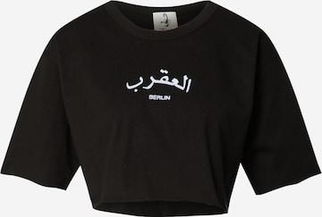 VIERVIER Shirt 'Shania' in Zwart