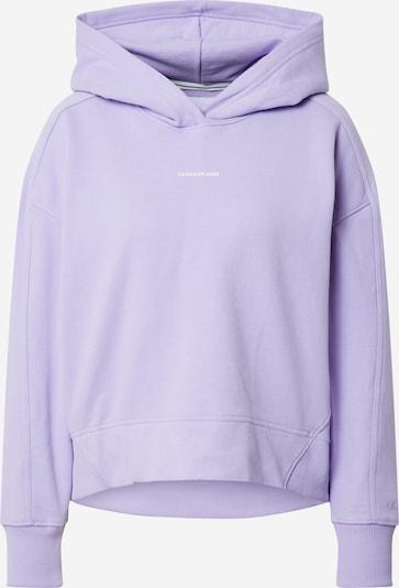 Calvin Klein Jeans Sweat-shirt en lilas / blanc, Vue avec produit