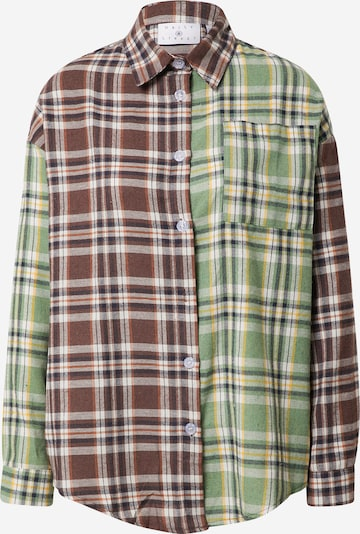 Daisy Street Blus i brun / gul / grön / vit, Produktvy