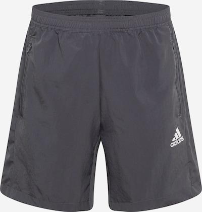 ADIDAS PERFORMANCE Pantalón deportivo en gris oscuro / blanco, Vista del producto