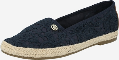 TOM TAILOR Espadrilles in beige / navy, Produktansicht