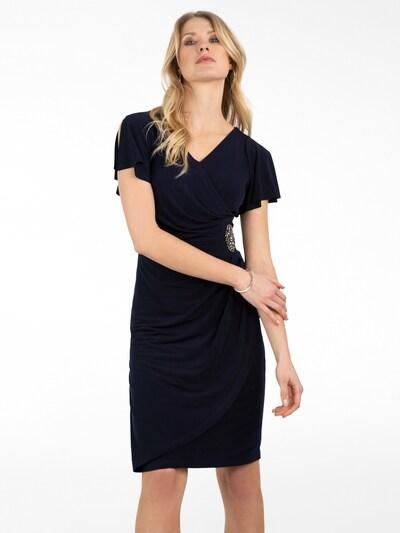 APART Jerseykleid in Wickeloptik in nachtblau: Frontalansicht