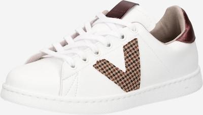 VICTORIA Zapatillas deportivas bajas en marrón / rojo oscuro / blanco, Vista del producto