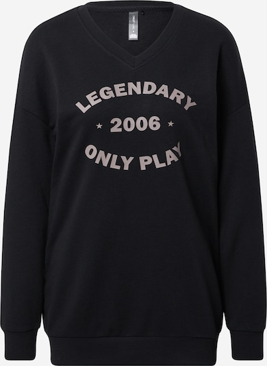 ONLY PLAY Sweatshirt 'Jara' in grau / schwarz, Produktansicht