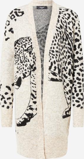 SISTERS POINT Strickjacke in creme / braun / schwarz, Produktansicht