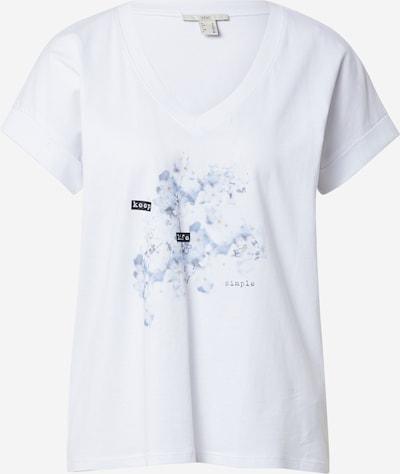 Tricou EDC BY ESPRIT pe albastru deschis / negru / alb, Vizualizare produs