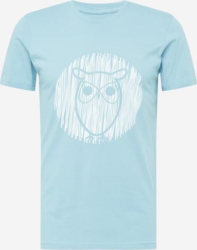 Tricou 'ALDER' KnowledgeCotton Apparel pe albastru deschis / alb, Vizualizare produs