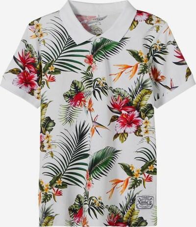 NAME IT T-Shirt en mélange de couleurs / blanc, Vue avec produit