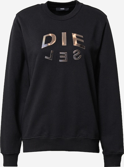 DIESEL Sweatshirt 'F-ANG-R20' in gold / black, Item view