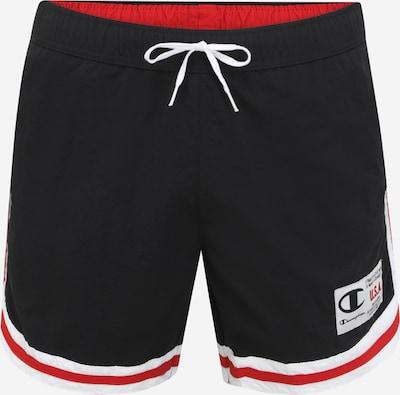 Champion Authentic Athletic Apparel Plavecké šortky - vínově červená / černá / bílá, Produkt