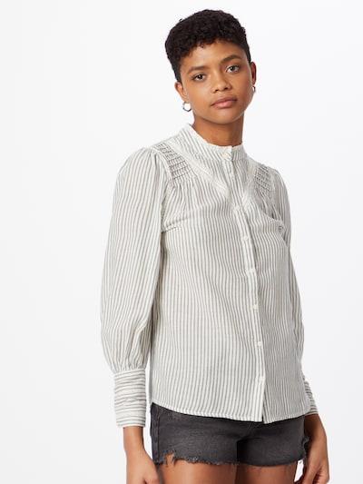 Maison 123 Bluse 'JOHANA' in anthrazit / weiß, Modelansicht
