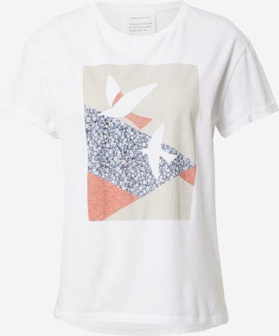 ARMEDANGELS Shirt 'NAALIN PRIMROSE DOVES' in dunkelblau / grau / pastellrot / weiß, Produktansicht