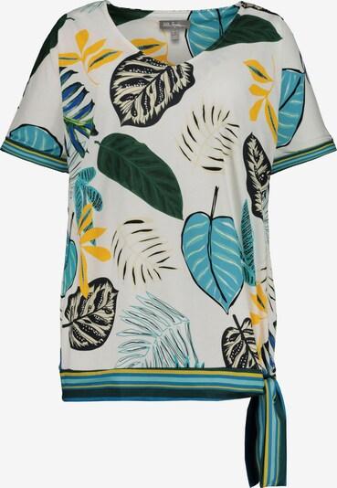 Ulla Popken Shirt in blau / grün / weiß: Frontalansicht