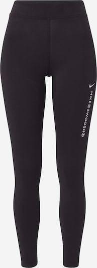 NIKE Sports trousers 'Swoosh' in Black / White, Item view