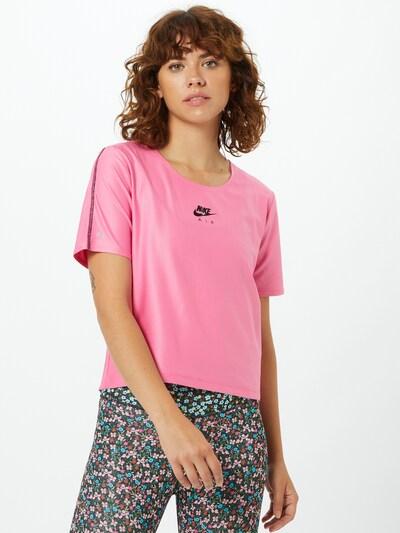 NIKE Tehnička sportska majica u roza / crna, Prikaz modela