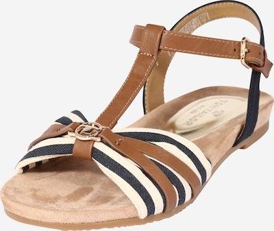 TOM TAILOR Sandale in beige / navy / braun, Produktansicht