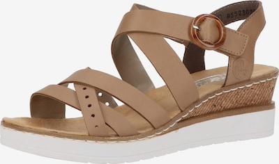 RIEKER Sandale in beige, Produktansicht