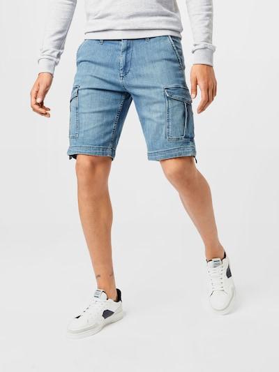 JACK & JONES Jeans cargo 'CHARLIE' en bleu denim, Vue avec modèle