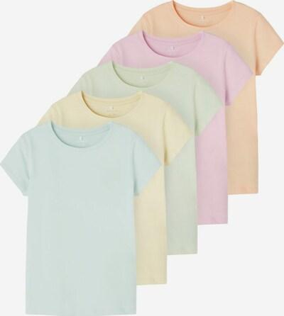 NAME IT T-Shirt 'BEATRIC' in hellblau / hellgelb / hellgrün / hellorange / hellpink, Produktansicht