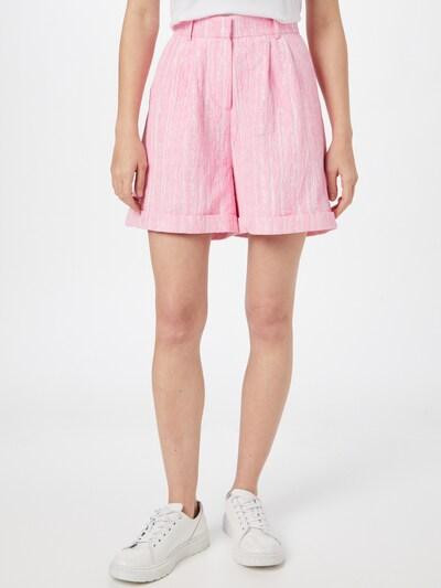 Crās Shorts 'Sisleycras' in pink / weiß, Modelansicht