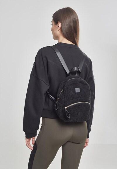 Urban Classics Schoudertas ' Sherpa Mini Backpack ' in de kleur Zwart: Vooraanzicht