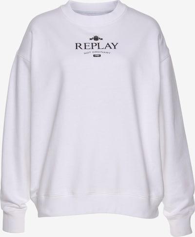 REPLAY Sweatshirt in Black / White, Item view
