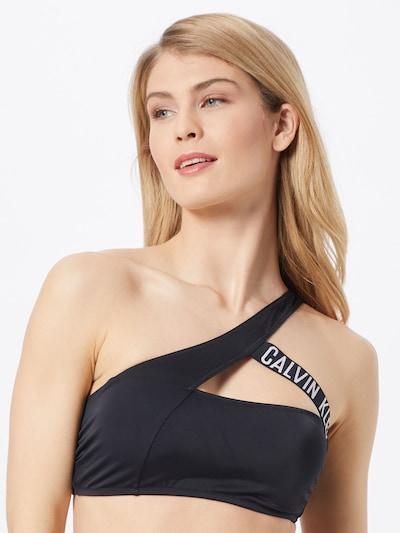 Calvin Klein Swimwear Bikinioverdel i sort / hvid, Modelvisning
