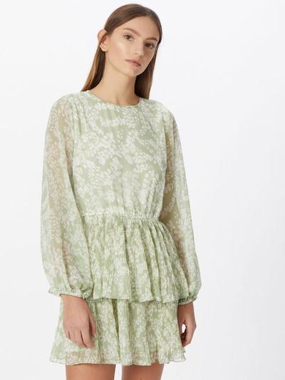 Gina Tricot Kleid 'Amber' in pastellgrün / weiß, Modelansicht