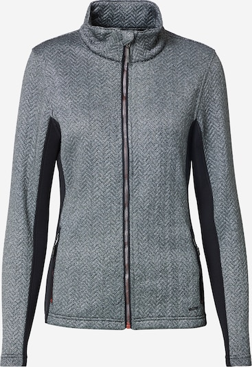 KILLTEC Veste outdoor 'Mikkeli' en gris argenté / noir chiné, Vue avec produit